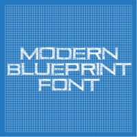 Modern Blueprint Font by thomasdyke