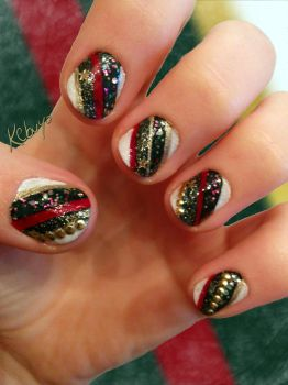 Nail Art Design: Christmas by Kebuyo