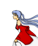 Yuuki Tenshi's wedding dress colored by EnviousNightmare99