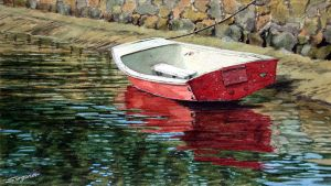 The red boat by fredasurgenor