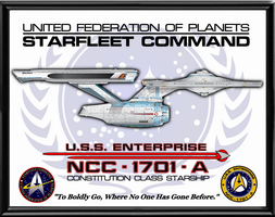 Enterprise A Poster by viperaviator