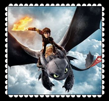 Hiccup And Toothless Fan Stamp 5 by MorkelebTheDragon