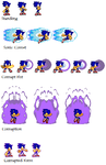 Comet The Hedgehog Sprites by Ferzin-the-hedgehog