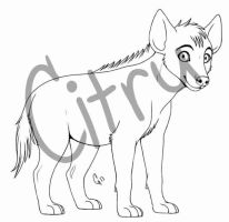 PTU Hyena Cub Lines by CitruAdopts