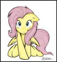 Cute Fluttershy by 123kennix