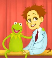 Walter And Kermit by Cheeky-Bee