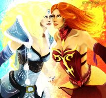 Lina and Crystal Maiden by HaneChan