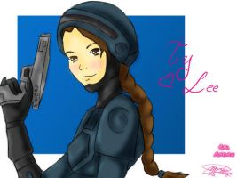 Ty Lee in her Robocop outfit by EvilMaiden