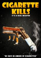 Cigarette kills by tkdesigne