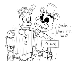 Balloon Spring Bonnie Meets Golden Freddy by Cephei97