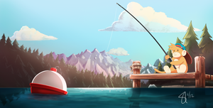 Just Fishin' by Bincho