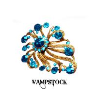 Blue Gold Brooch PNG Vampstock by VAMPSTOCK