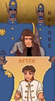 Jim before and after by Issoman