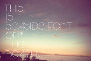 Seaside Font. by pgmoreno