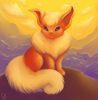 Flareon by shiropanda