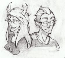 Vriska and Eridan by EatinIce