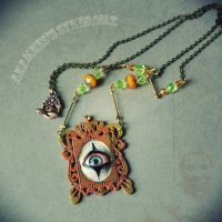 Clown Eye Necklace by Verope