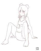 Girl sitting by PieceofSoap