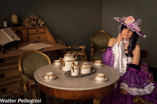 Nozomi in tea room by Giuly-Chan