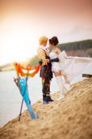 Yuna and Tidus: Final Fantasy Dissidia by GarnetTilAlexandros