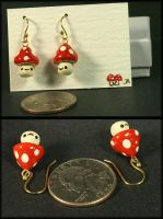 Dangly fungus earring set by CatharsisJB