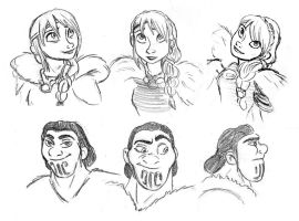 Eret and Astrid Sketches by AriellaMay