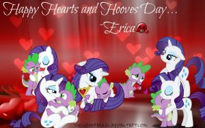 {Wallpaper} ~ Happy Hearts and Hooves Day... by ShegoxDrakken
