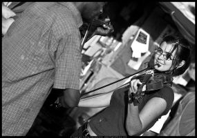 Fiddle Playing by digitalgrace