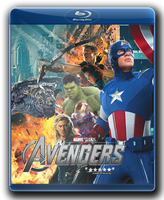 The Avengers Bluray Cover with glow by RedScar07
