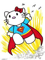 Hello Kitty as Supergirl by misfitcorner