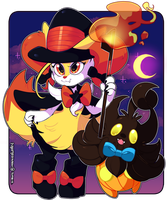 Pokemon: Fluffy Halloween by QueenAshi