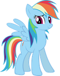 Rainbow Dash (Vector) by DatBrass