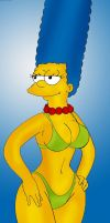 Sexy Marge Simpson by x4blade