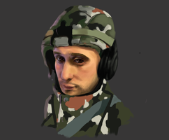 WIP YouTube Banner - Soldier Chris by jessparry