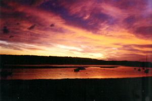 Sunset over Findhorn Bay photo by acetheone