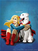 Krypto And Kara by clc1997