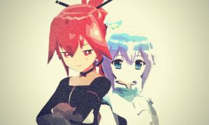 MMD Red and Blue by Shichi-4134
