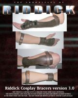 NEW RIDDICK BRACERS FINISHED by ajb3art