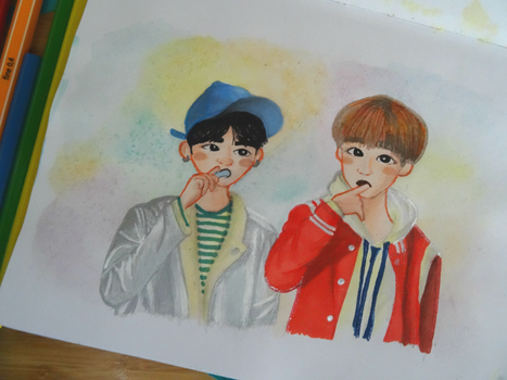 Spring Day Yoonseok (Sketchbook page 5 2017) by xxPandaGirl16xx