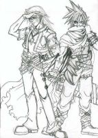 Cloud and Leon by Mimy1091