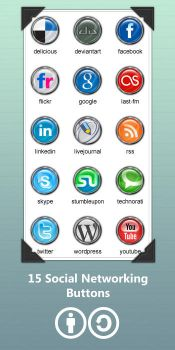 Social Networking Buttons by ArdathkSheyna