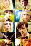Eleven and Rose Doctor Who by darkwizardcatcher09