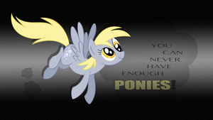 You can never have enough ponies Derpy wallpaper by rhubarb-leaf