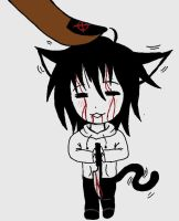 Chibi Neko Jeff The Killer by Yandere-Nikki