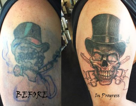 Redesign and coverup tattoo by bsg57a