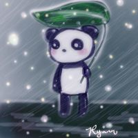 panda under the umbrella by eennnnuuii
