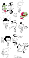 Invader Zim Doodle Dumps by outlandishgreen