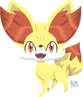 Fennekin 6th Gen Pokemon by SuperAj3