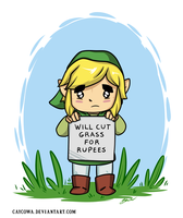 Legend of Zelda - Will cut grass for rupees by caycowa