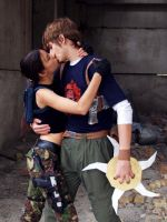 Lara and Kurtis - kissing by TanyaCroft